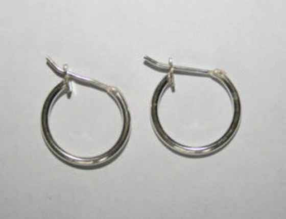 Ohrringe 11,5 mm, Sterling Silber
